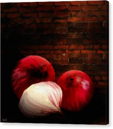 Bistro Canvas Print - Onions by Lourry Legarde