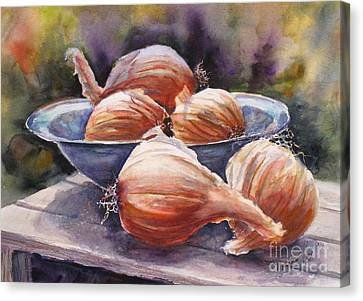 Onions Canvas Print by Mohamed Hirji