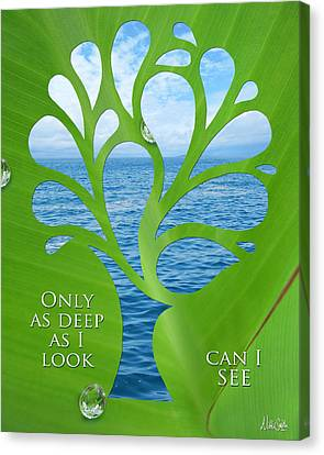 Only As Deep As I Look Can I See Canvas Print by Nikki Smith