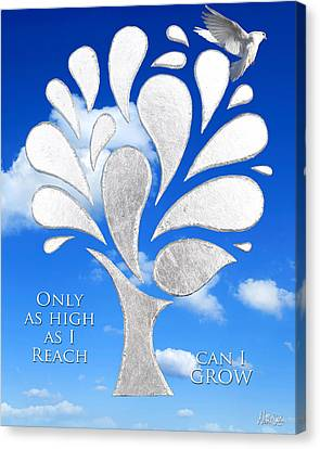 Wings Canvas Print - Only As High As I Reach Can I Grow by Nikki Smith