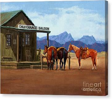 Alchol Canvas Print - Only Chance Saloon by Randy Follis