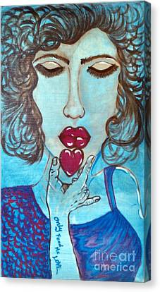 Only Feed Me Love Canvas Print by Adriana Garces