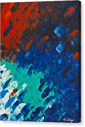 Energy Art Movement Canvas Print - Only Till Eternity 3rd Panel by Sharon Cummings