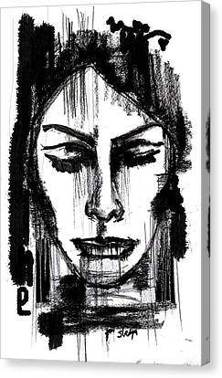 Portraits Canvas Print - Only Woman Knows by Sladjana Lazarevic