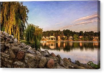 Willow Lake Canvas Print - Onondaga Park Hiawatha Lake by Everet Regal