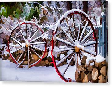 Oo Wagon Wheels Impressionistic Canvas Print by Scott Campbell