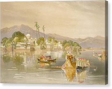 Oodypure, The Jugmunder Palace Canvas Print by William 'Crimea' Simpson