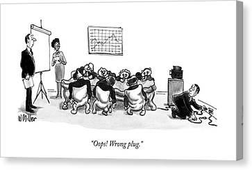 Oops! Wrong Plug Canvas Print by Warren Miller