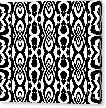 Op Art Pattern Geometric Black White Art No.338. Canvas Print by Drinka Mercep