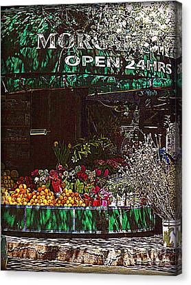Canvas Print featuring the photograph Open 24 Hours by Miriam Danar