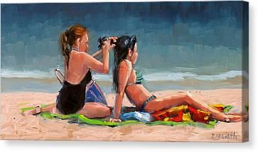 Open Air Salon Canvas Print by Laura Lee Zanghetti