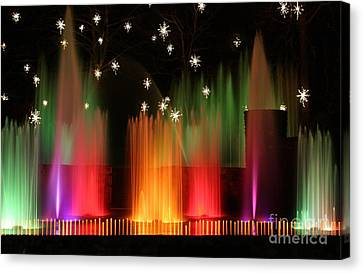 Open Air Theatre Rainbow Fountain Canvas Print by Living Color Photography Lorraine Lynch