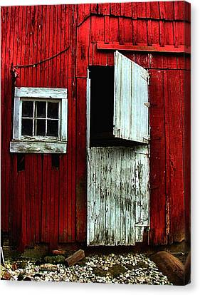 Open Barn Door Canvas Print
