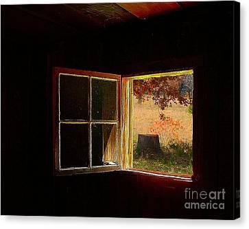 Open Cabin Window II Canvas Print by Julie Dant