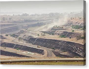 Open Cast Coal Mine Canvas Print