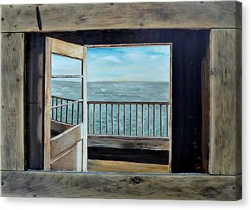 Canvas Print featuring the painting Open Door by Lindsay Frost