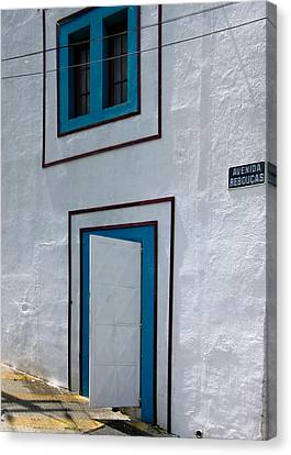 Open Door On Avenida Reboucas Canvas Print by Julie Niemela