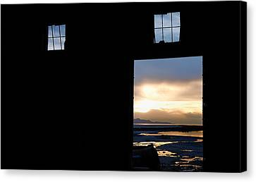 Open Door Sunset - A Great Salt Lake Sunset Canvas Print by Steven Milner
