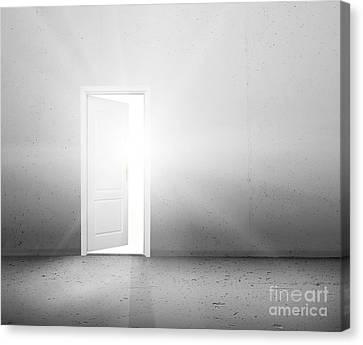Open Door To A New Better World Canvas Print by Michal Bednarek