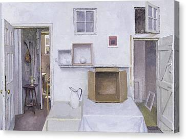 Open Doors - Framed Objects - Albers, 2004 Oil On Canvas Canvas Print by Charles E. Hardaker