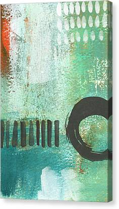 Open Gate- Contemporary Abstract Painting Canvas Print by Linda Woods