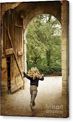 Medieval Entrance Canvas Print - Open Gate by Heiko Koehrer-Wagner