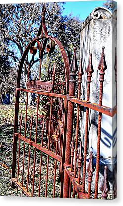 Open Gate Canvas Print by Kelly Kitchens