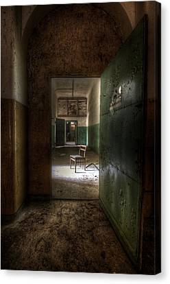 Open Green Door Canvas Print by Nathan Wright