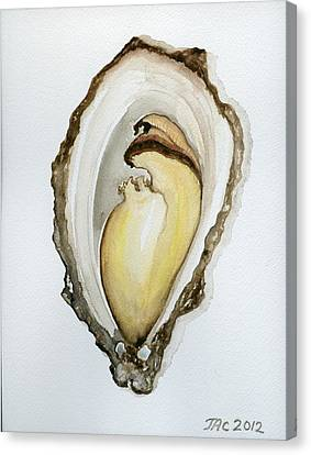 Open Oyster #3 Canvas Print