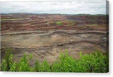 Open Pit Iron Mine Canvas Print
