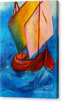 Open Sail Canvas Print