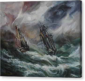 Open Sea - Dangerous Drift II Canvas Print by Stefano Popovski