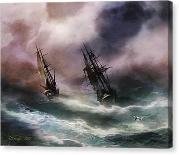 Open Sea Dangerous Drift Canvas Print