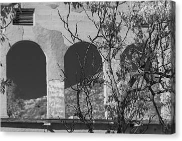 Open Windows Jerome Black And White Canvas Print
