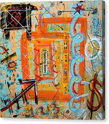 Opening Doors Canvas Print by Debra Jacobson