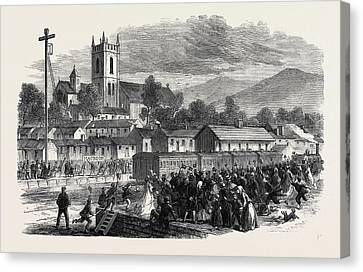 Cork Canvas Print - Opening Of The Cork And Macroom Railway Arrival by Irish School