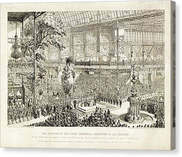 Opening Of The Great Exhibition Of 1851 Canvas Print by Library Of Congress