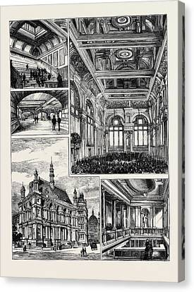 Opening Of The New Buildings For The City Of London School Canvas Print by English School