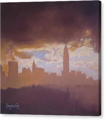Opening To The City Canvas Print by Harvey Rogosin