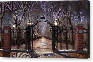 Lamp Post Canvas Print - Opening To Truth by David M ( Maclean )