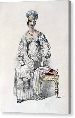 Ostrich Feathers Canvas Print - Opera Dress, Fashion Plate by English School