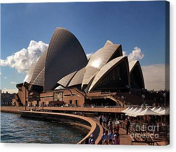 Canvas Print featuring the photograph Opera House Famous by John Swartz