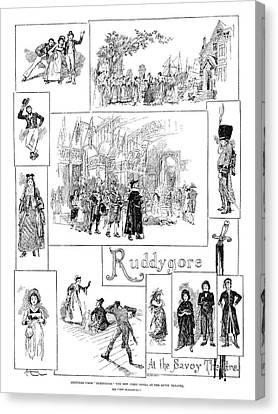 Opera Ruddygore, 1887 Canvas Print by Granger