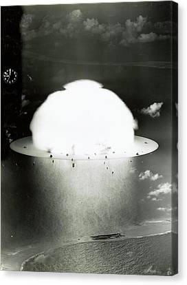 Operation Crossroads Atom Bomb Test Canvas Print by Library Of Congress