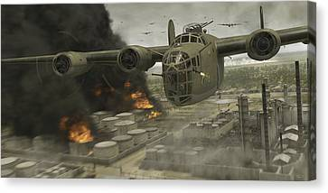 Operation Tidal Wave Head-on View Canvas Print