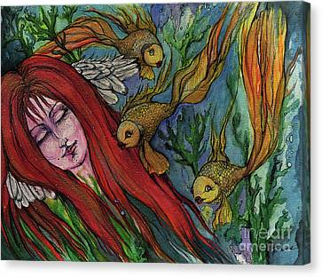 Ophelia Canvas Print by Angel  Tarantella