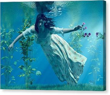 Ophelia Canvas Print by Daniel Eskridge
