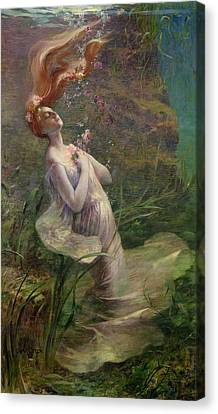 Ophelia Drowning Canvas Print by Paul Albert Steck