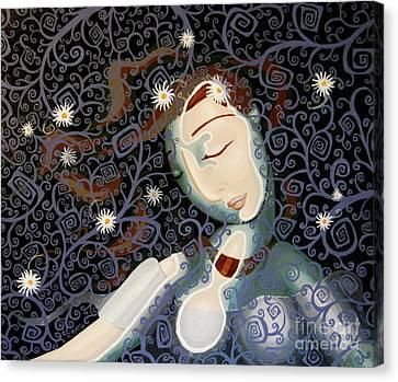 Ophelia Canvas Print by Rebecca Mott