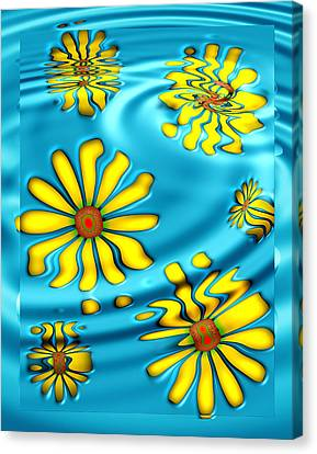 Ophelia's Daisies Canvas Print by Wendy J St Christopher